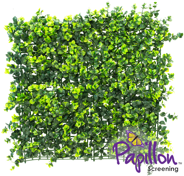 50x50cm Dark Buxus Artificial Hedge Panel - by Papillon™ - 8 Pack - 2m²