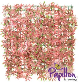 50x50cm Red Acer Artificial Hedge Panel (1ft 7in x 1ft 7in) - by Papillon™