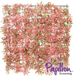50x50cm Red Acer Artificial Hedge Panel - by Papillon™ - 4 Pack - 1m²