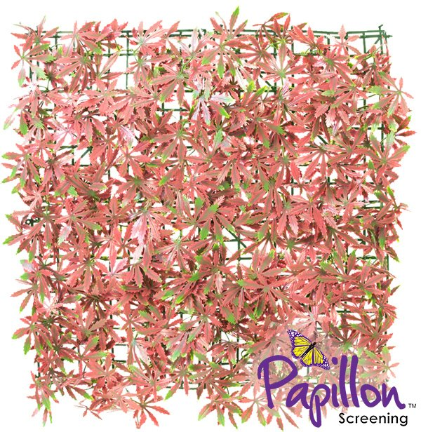 50x50cm Red Acer Artificial Hedge Panel - by Papillon™ - 16 Pack - 4m²