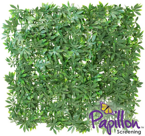 50x50cm Green Acer Artificial Hedge Panel - by Papillon™ - 2 Pack - 0.5m²