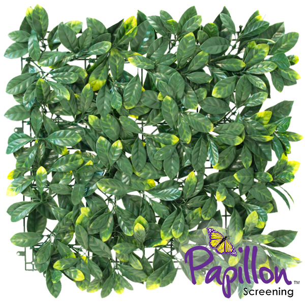50x50cm Laurel Artificial Hedge Panel - by Papillon™ - 16 Pack - 4m²
