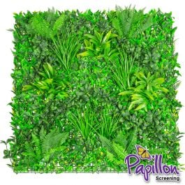 1x1m Artificial Mixed Plants Green Wall Hedge Panel (3ft 3in x 3ft 3in) - by Papillon™ - 32 Pack