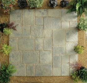 Minster Paving Random Patio Kit 5.76 m² Rustic Sage