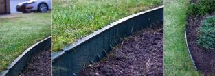 1m Interlocking Plastic Lawn Edging