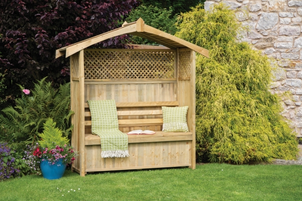 Hampshire Wooden Arbour With Storage Box H2.1m