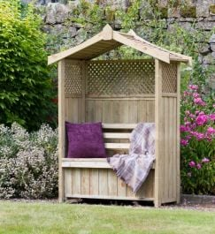 2m (6ft 6in) Dorset Wooden Arbour With Storage Box