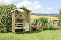 Rutland Wooden Arbour with Trellis H2m