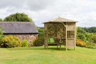 2.5m (8ft 2in) Brighton Corner Garden Arbour FSC® by Zest 4 Leisure®