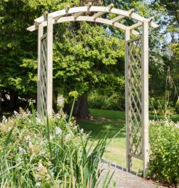 1.8m (5ft 10in) Daria Wooden Trellis Arch FSC® by Zest 4 Leisure®