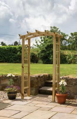 2.1m (6ft 10in) Moonlight FSC Wooden Garden Arch FSC by Zest 4 Leisure