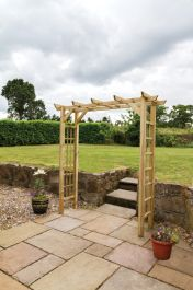 2.1m (6ft 10in) Twilight Wooden Garden Arch FSC® by Zest 4 Leisure®