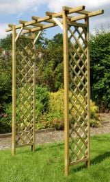 2.1m (6ft 10in) Sunset Arch Wooden Trellis FSC® by Zest 4 Leisure®