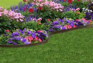 EZ Border Thinline Garden Edging in Earth - L20'x5