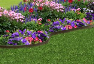 EZ Border Thinline Garden Edging in Earth - L20'x5""