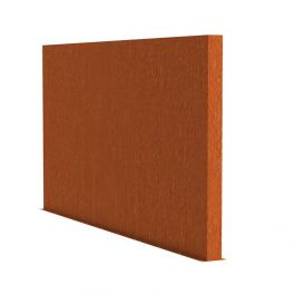 2m (6ft 6in) x 4m (13ft 1in) Corten steel Outdoor Wall