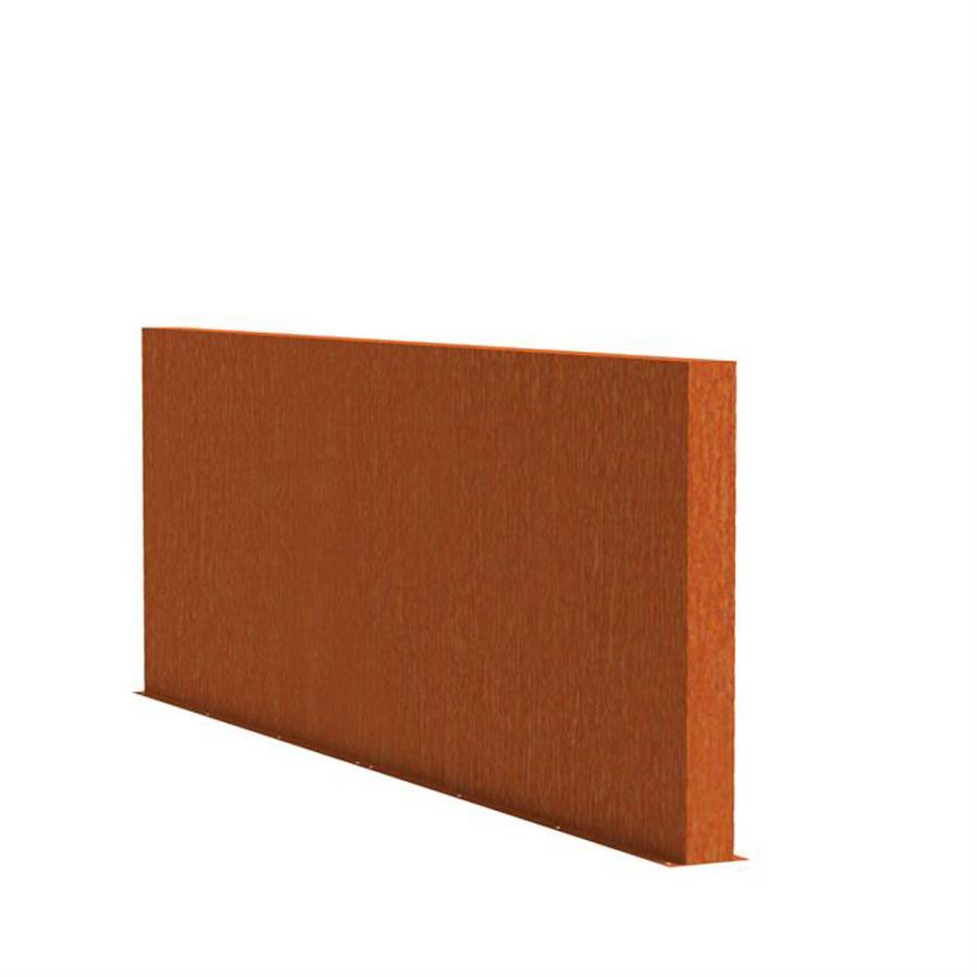 1.35m (4ft 5in) x 4m (13ft 1in) Corten steel Outdoor Wall