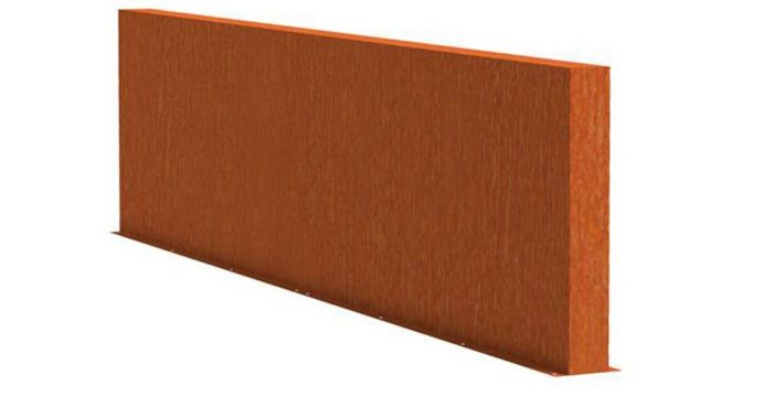 1m (3ft 3in) x 4m (13ft 1in) Corten steel Outdoor Wall By Adezz