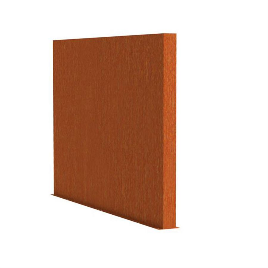 2m (6ft 6in) x 3m (9ft 10in) Corten steel Outdoor Wall By Adezz