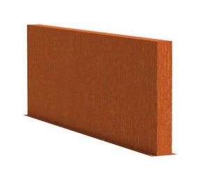 1.35m (4ft 5in) x 3m (9ft 10in) Corten steel Outdoor Wall