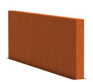 1m (3ft 3in) x 3m (9ft 10in) Corten steel Outdoor Wall