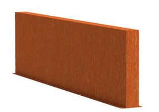 0.8m (2ft 7in) x 3m (9ft 10in) Corten steel Outdoor Wall