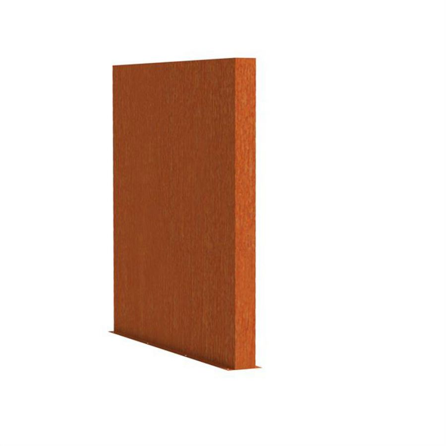 2m (6ft 6in) x 2m (6ft 6in)Corten steel Outdoor Wall By Adezz