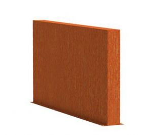 1m (3ft 3in) x 2m (6ft 6in)Corten steel Outdoor Wall