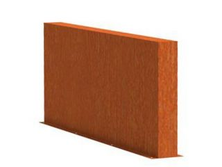 0.8m (2ft 7in) x 2m (6ft 6in)Corten steel Outdoor Wall