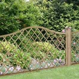 Set of 3 | 6ft x 3ft Europa Hamburg Decorative Garden Screen | Pressure Treated