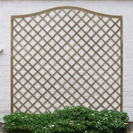 Set of 3 | 6ft x 6ft Europa Hamburg Decorative Garden Screen | Pressure Treated