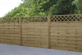 Set of 3 | 6ft x 6ft Windermere Decorative Wooden Fence Panel | Pressure Treated