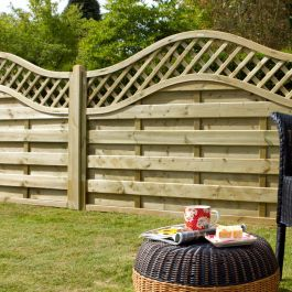 Set of 3 | 6ft x 3ft Europa Prague Decorative Wooden Fence Panel | Pressure Treated