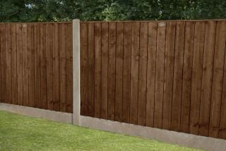 Set of 3 | 6ft x 4ft Featheredge Wooden Fence Panel in Dark Brown | Pressure Treated
