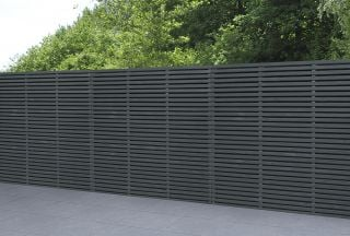 Set of 3 | 6ft x 6ft Grey Painted Double Slatted Wooden Fence Panel