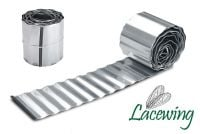 L5m Galvanised Lawn Edging Roll - Wavy - H16.5cm