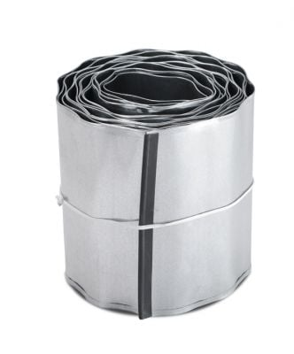 5m Galvanised Lawn Edging Roll - Wavy - H16.5cm