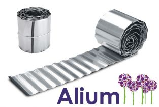 10m Galvanised Lawn Edging Roll - Wavy - H16.5cm