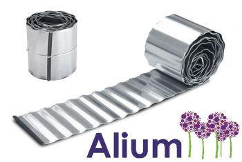 L10m Galvanised Lawn Edging Roll - Wavy - H16.5cm