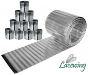 Pack of 10x 5m Galvanised Lawn Edging Rolls - Corrugated - H16.5cm