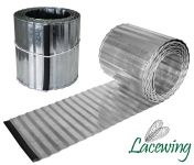 5m Deep Corrugated Galvanised Lawn Edging Roll - H16.5cm