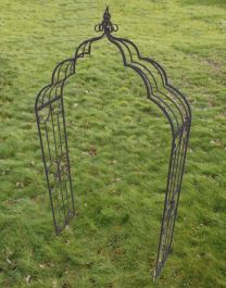 Vintage Garden Arch in Aged Iron Finish - 240cm