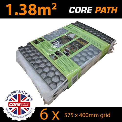 Gravel Pathway Stabilizer Grid Handy Pack in Grey - by CORE Landscape Products