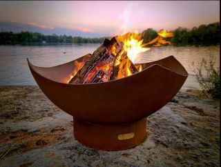 90cm Dia Steel Fire Pit Bowl The Chalice - by CORE Landscape Products