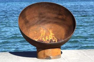 90cm Dia Steel Fire Pit Bowl The Goblet -by CORE Landscape Products