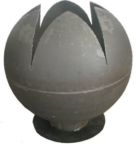 90cm Dia Steel Fire Pit Sphere Lotus Globe - by CORE Landscape Products