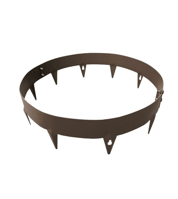 90cm Dia Tree/Garden Ring in Brown Galvanised Steel - by CORE Landscape Products