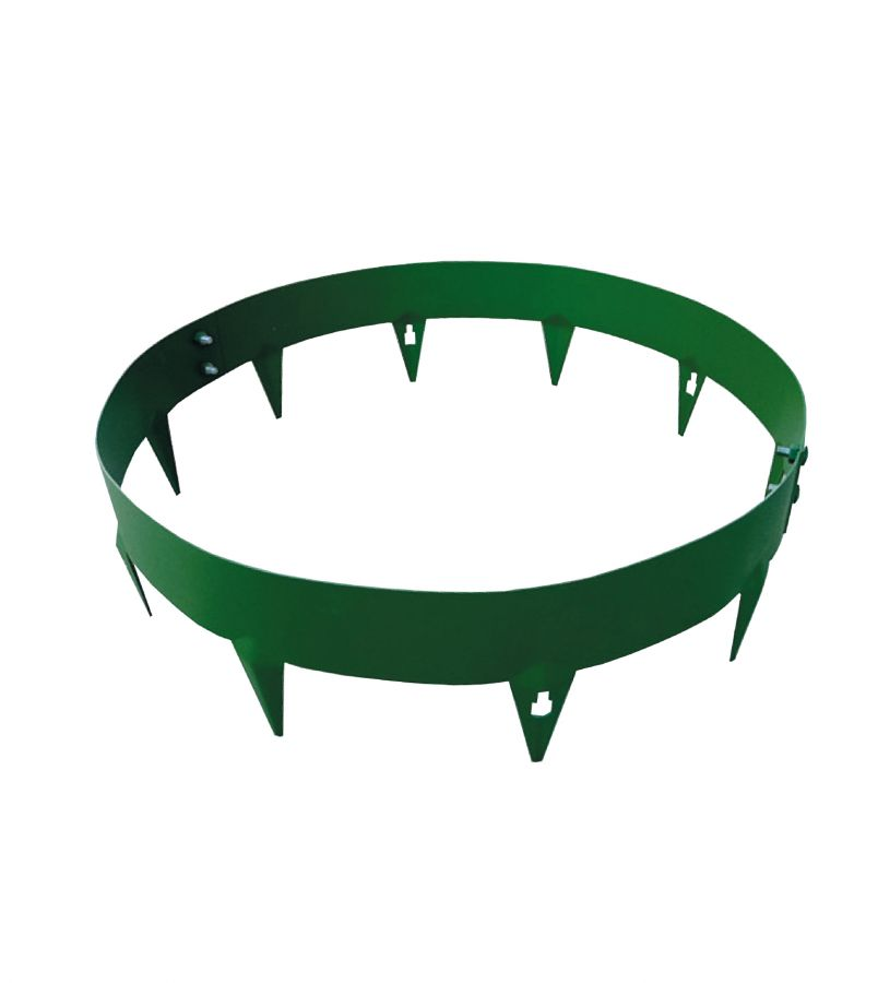 90cm Dia Tree/Garden Ring in Green Galvanised Steel - by CORE Landscape Products