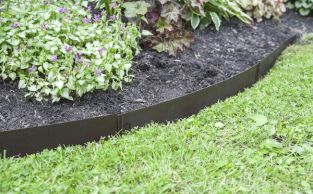 2.73m Bronze Straight Edge Lawn Edging Kit