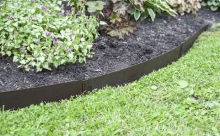 27.3m Bronze Straight Edge Lawn Edging Kit